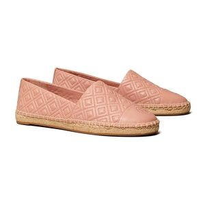 Tory Burch Quilted Flat Espadrille - Pink Moon